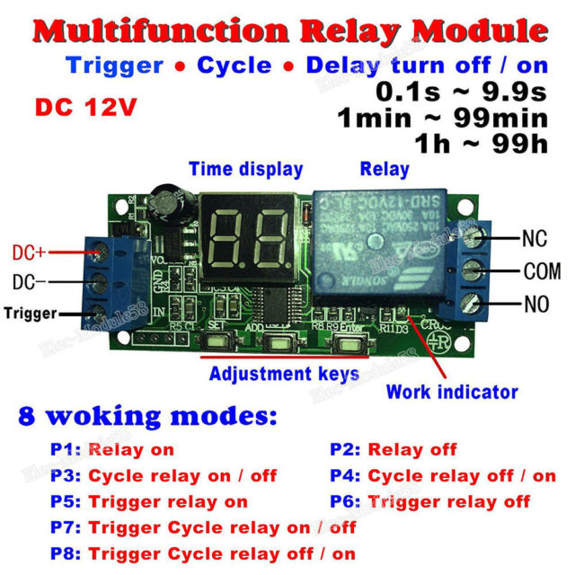 Dc 12v Timer Relay Switch Turn On Off Module Digital Led Cycle Delay Time Timing For Sale Online Ebay In 2020 Relay Timer Dc 5v