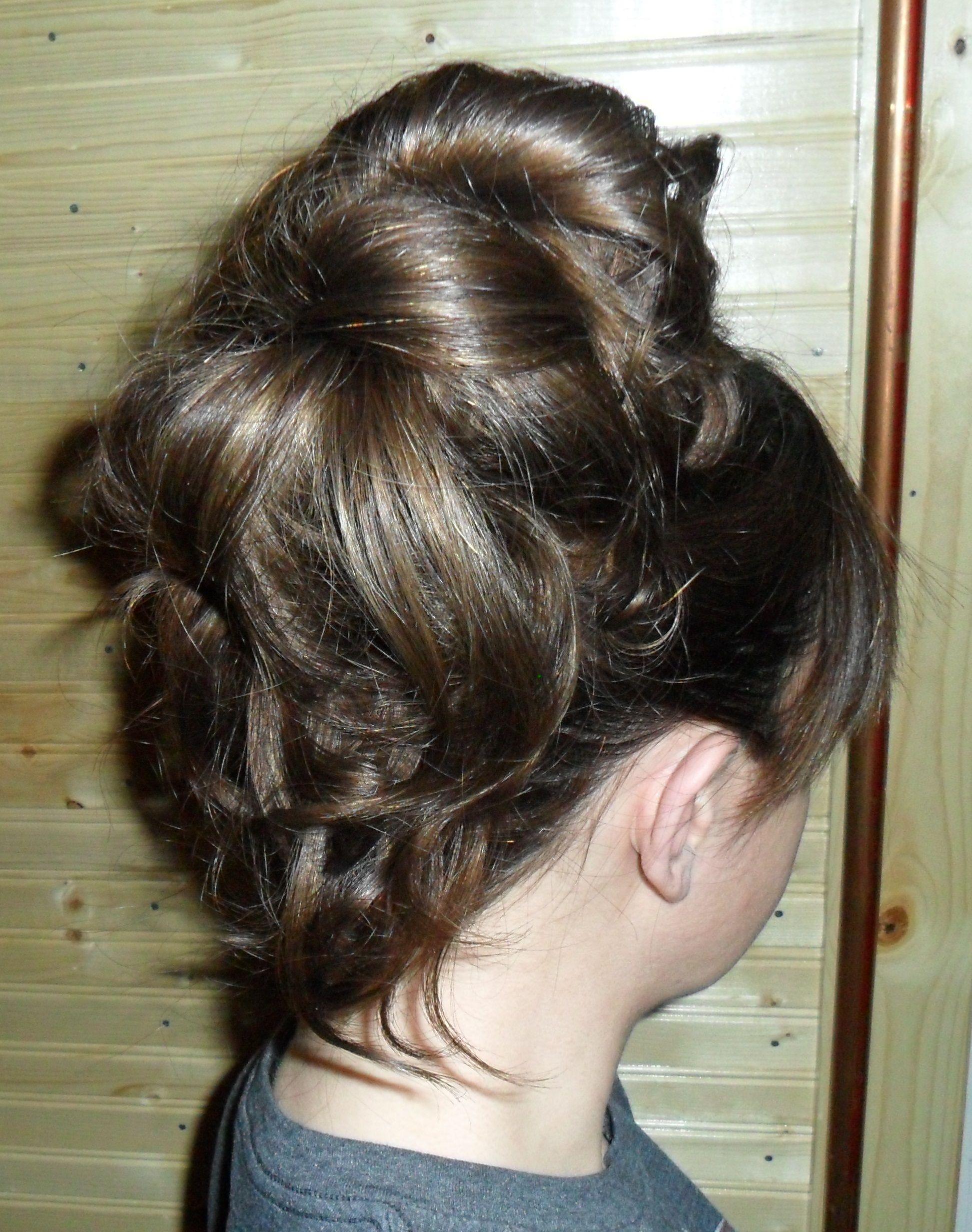Updo hairstyle. Half bun/half ponytail curly hybrid. BZenBeauty | Рапунцель