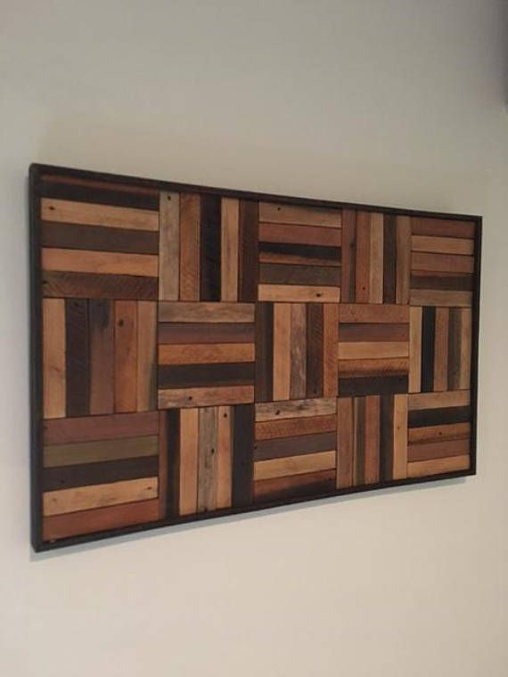 Rustic Wood Panels Reclaimed Wood Wall Art Products In 2019