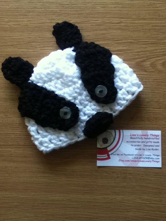 d2980bac534 Handmade Baby Badger Hat by LisasLovelyThings on Etsy