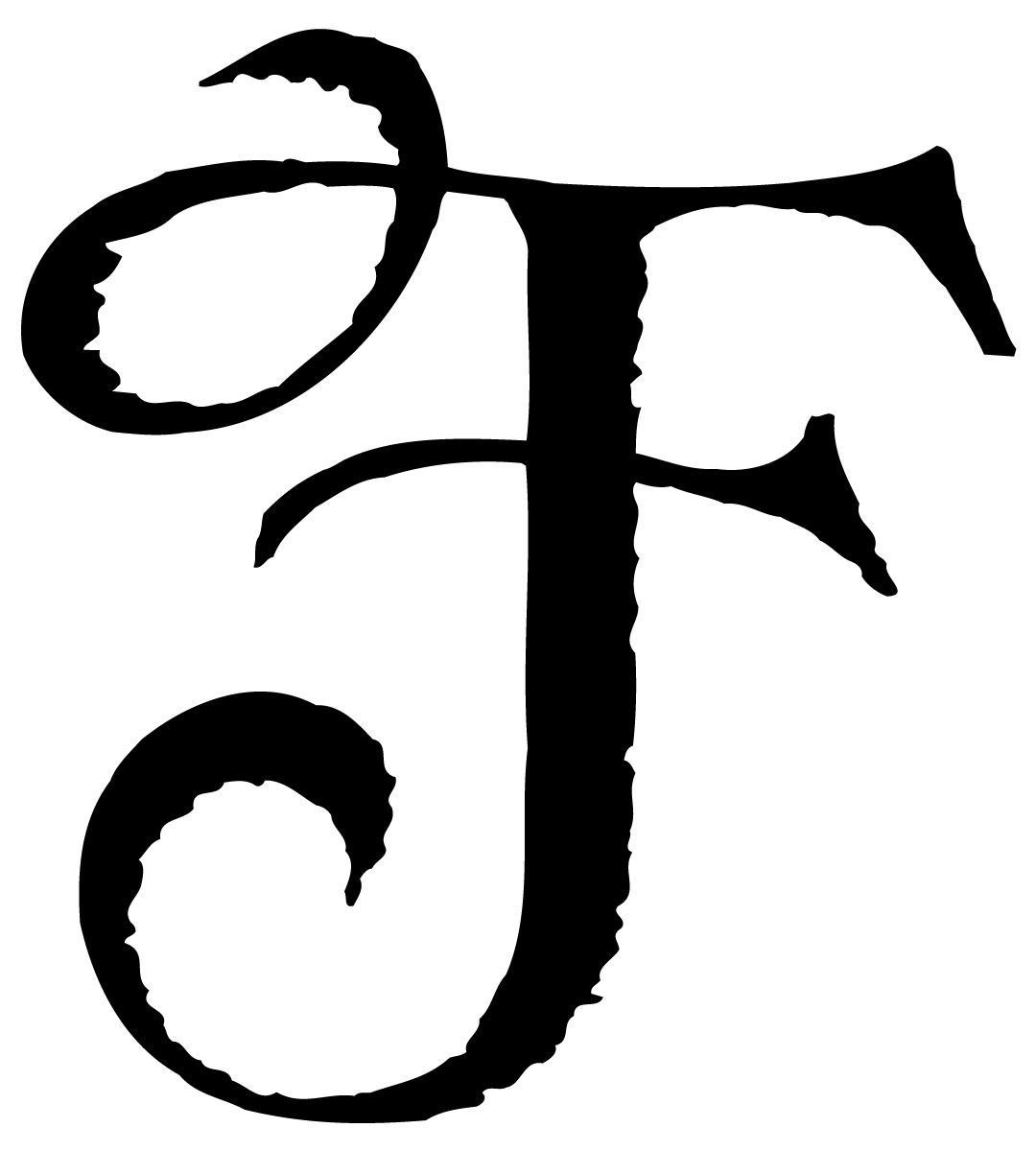 Letter F F Tattoo Lettering Alphabet