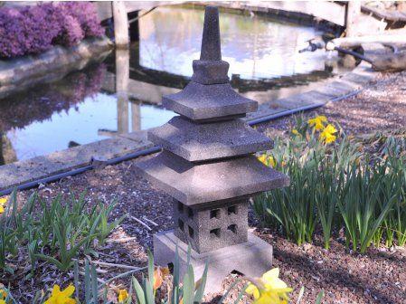 Lampe Japonaise En Pierre De Lave 50cm Deco Zen Lanterne Japonaise