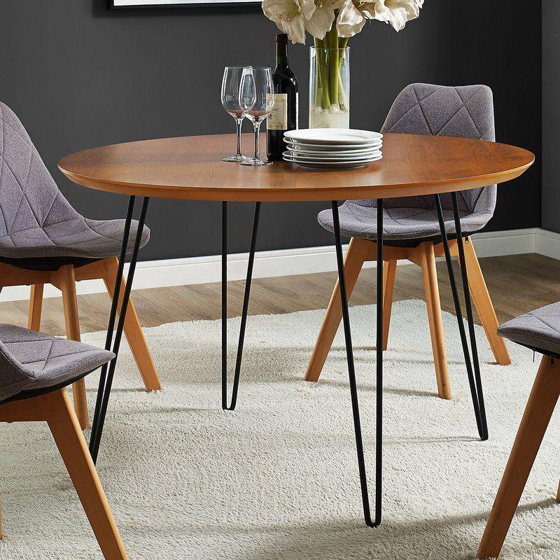 Chrisman Hairpin Dining Table Hairpin Dining Table Circular