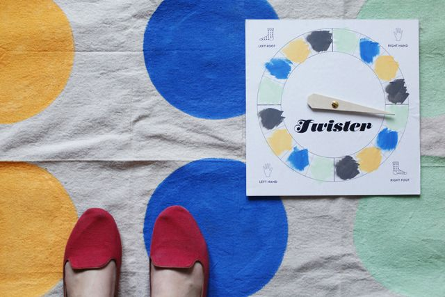 Make Your Own Twister Board. Great For Halloween Parties, Etc. Just  Substitute A