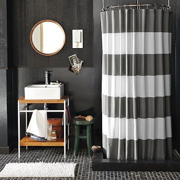 West Elm Curtain Would Look Nice With Orange Accents