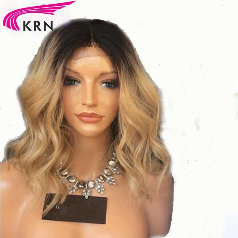 1b/27 Ombre Blonde Brazilian Remy Human Hair Lace Front