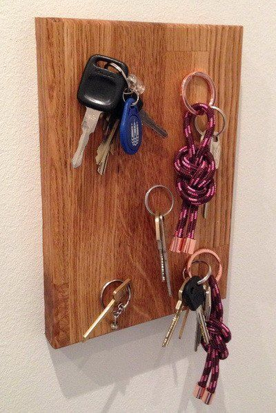 How To Make A Diy Wall Mounted Magnetic Key Holder Magnetic Key Holder Key Holder Diy Wall Key Holder