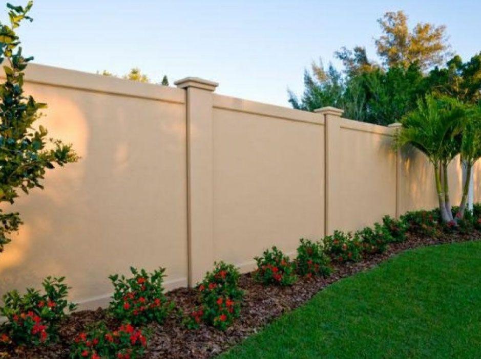Stucco Fence Cost Di 2020 Desain Exterior Rumah Modern Desain