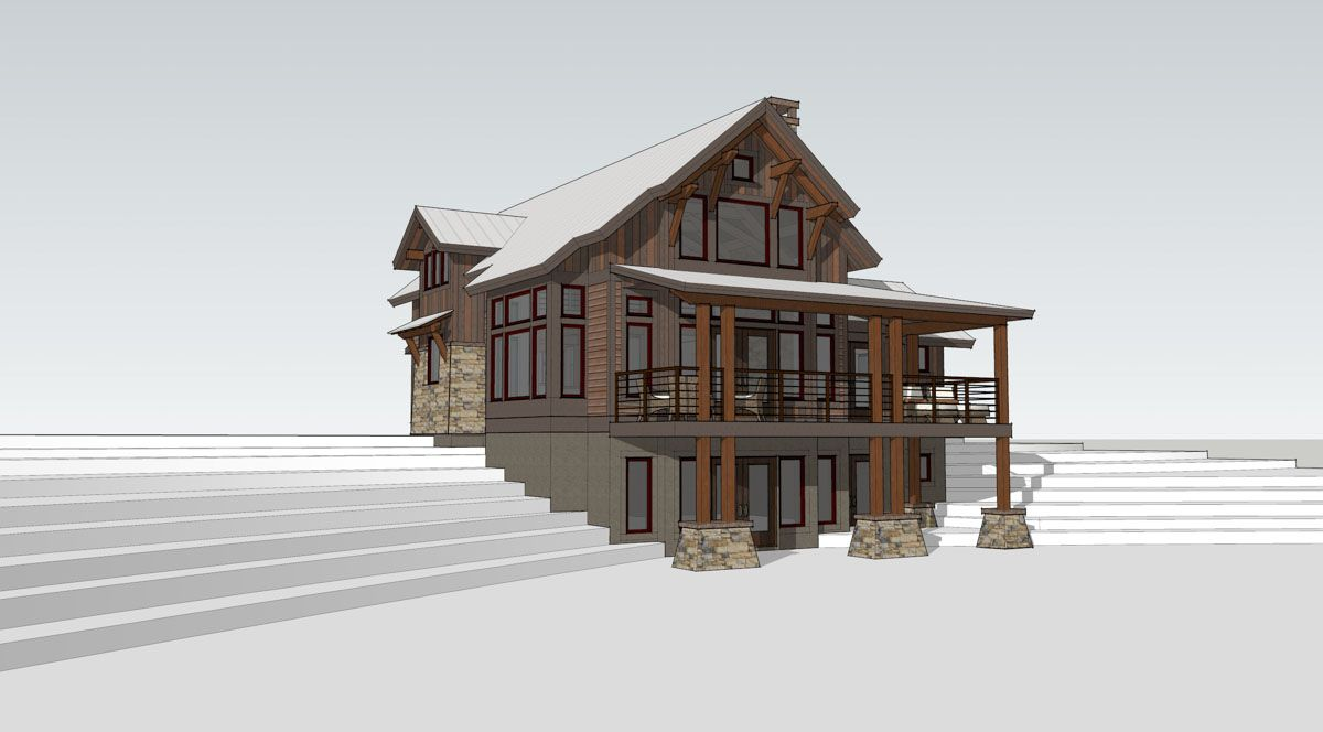 Lake Cottage Timber Frame Home Designs Timberbuilt Lake House Plans House Design Timber Frame Homes