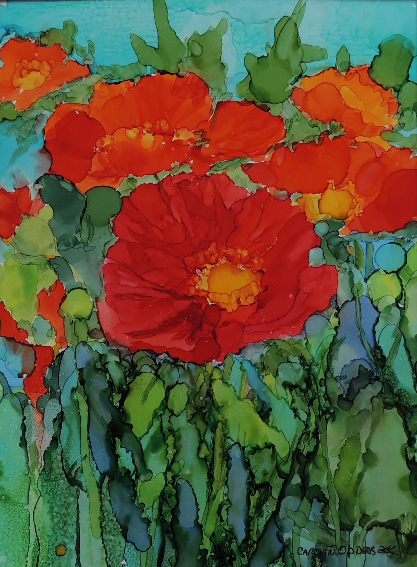 40 Ink Painting Ideas For Inspiration: 14 X 18 Alcohol Ink On Yupo Painting By Carolyn Opderbeck