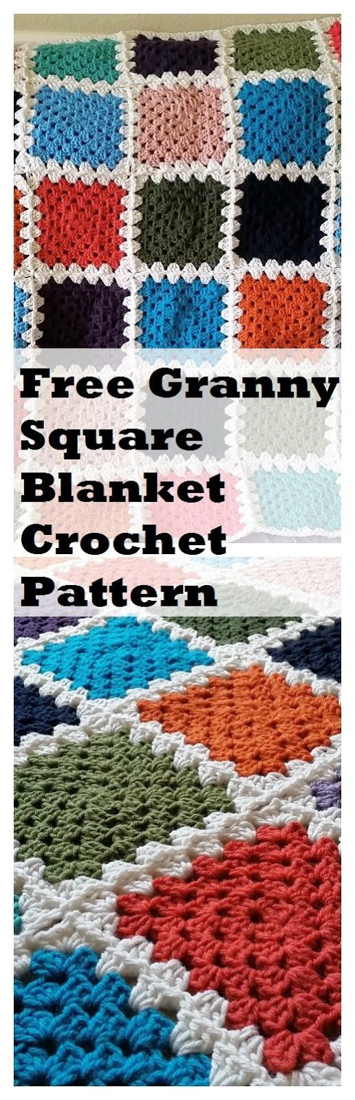 Crochet from J: A Simple Granny Square Blanket | Crochet - Afghans ...