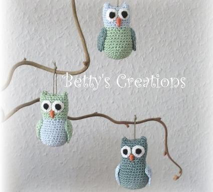 creadoo - crocheted owls, free tutorial | Häkeln, Stricken ...
