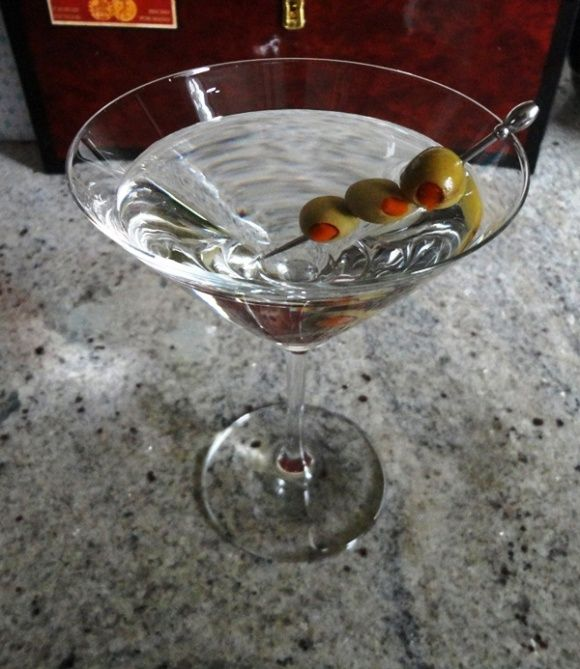 Gin Martini... MUST HAVE THREE OLIVES