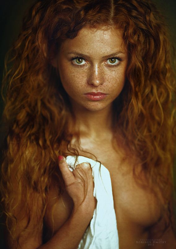 Red haired lesbian freckled idea has