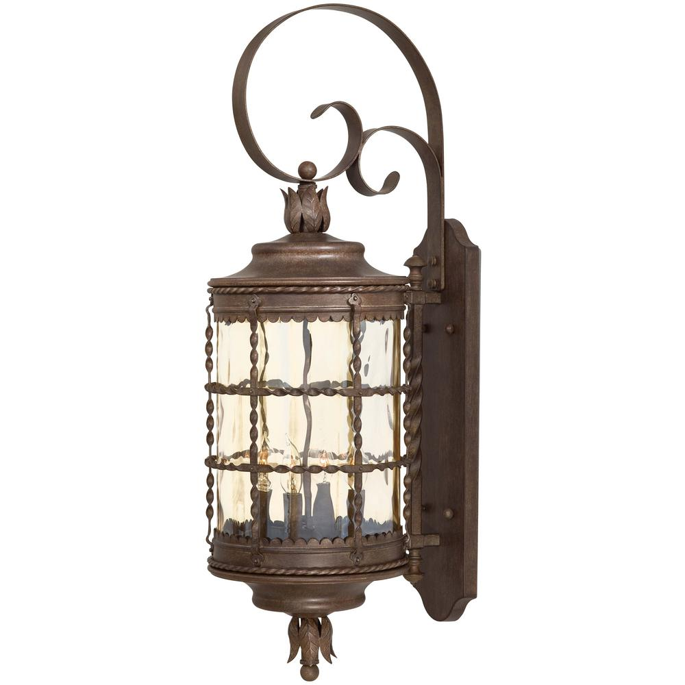 The Great Outdoors By Minka Lavery Mallorca 4 Light Vintage Rust Powder Coat Outdoor Wall Lantern Sconce 8882 A61 Wall Mounted Light Outdoor Wall Lantern Outdoor Wall Sconce