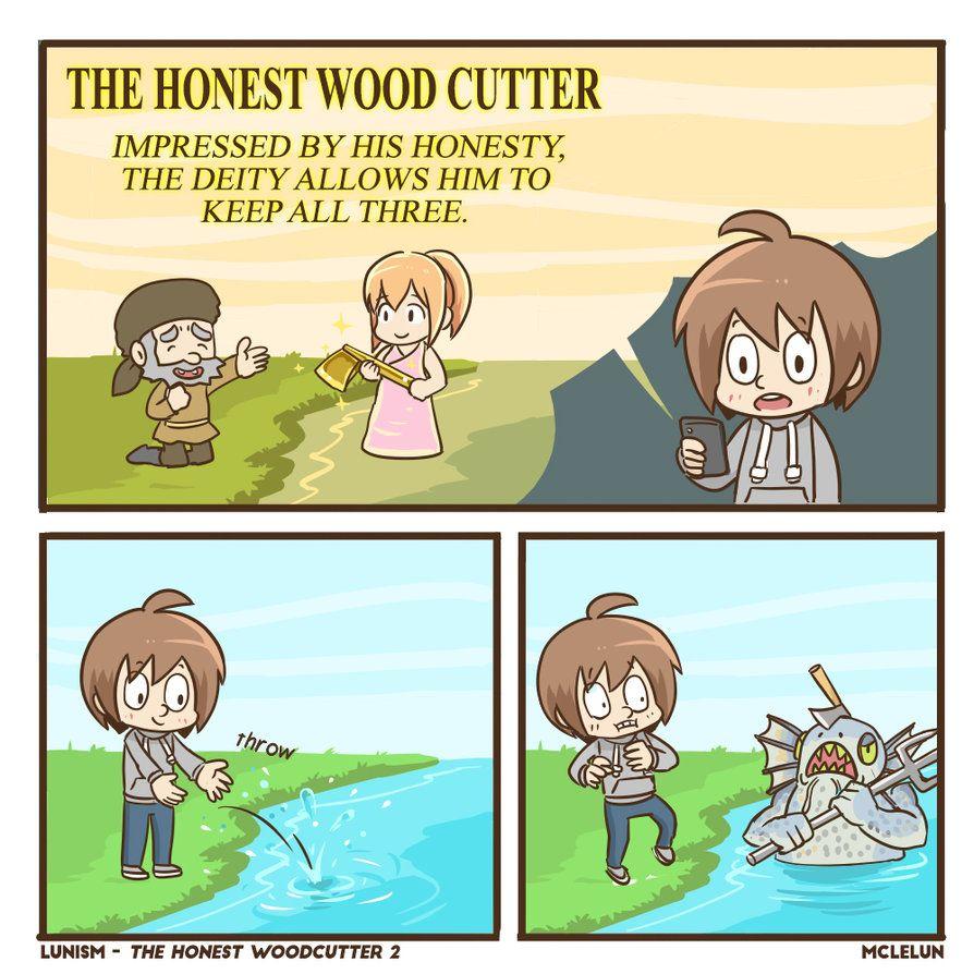 The Honest Wood Cutter 2 by mclelun.deviantart.com on @DeviantArt