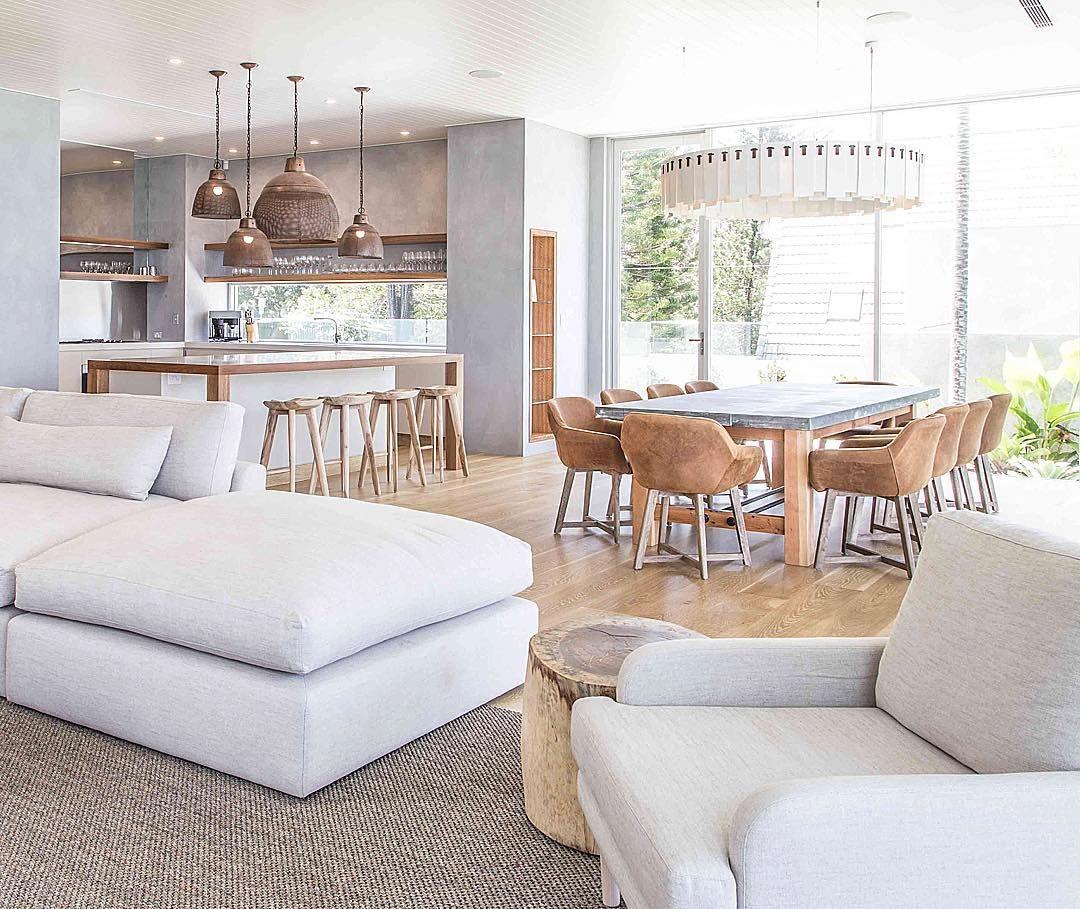 Dining Room Loveseat: Dining Room, Statement Light, Oversize White Linen Sofa