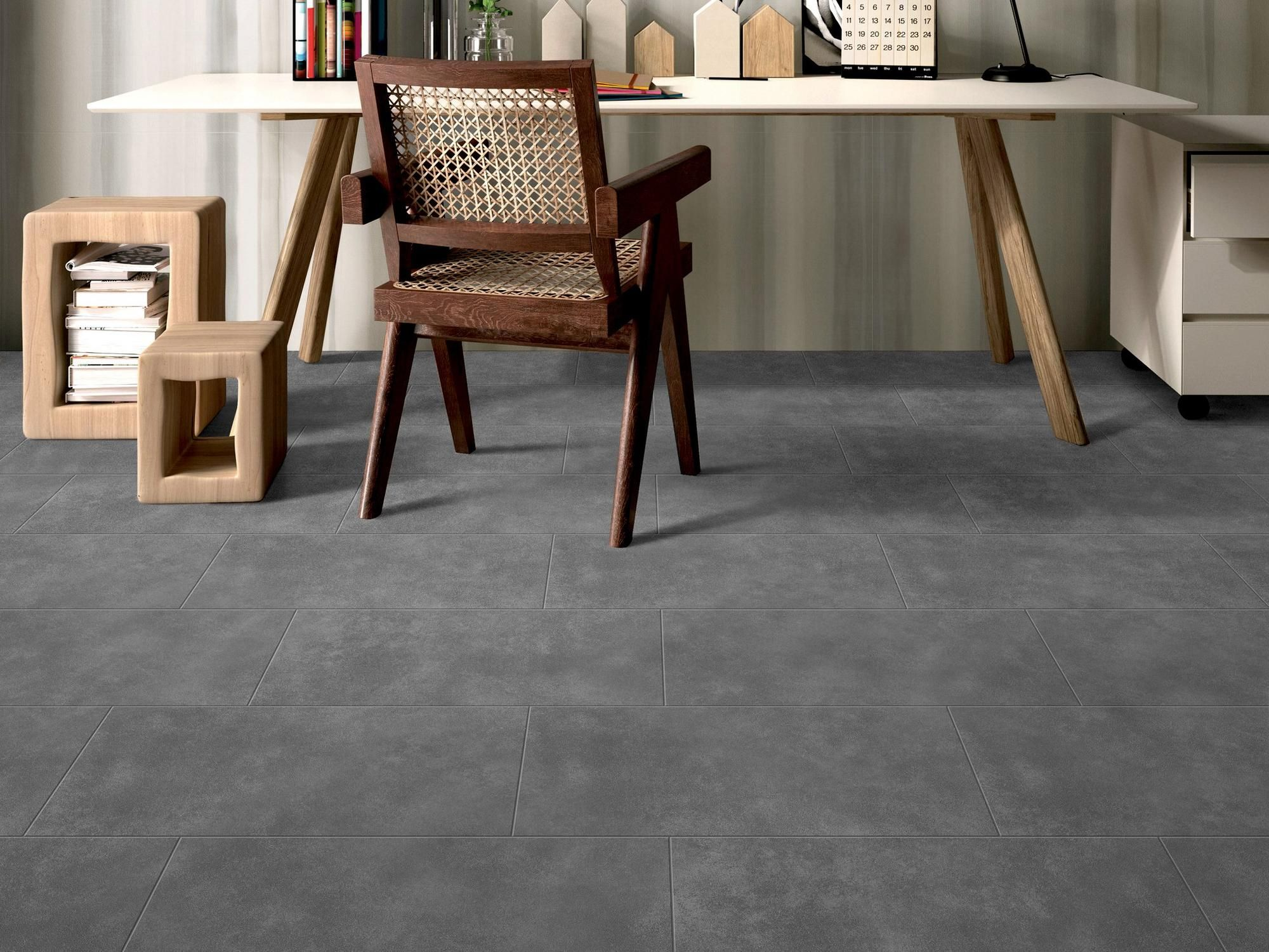Uptown Antracite Porcelain Tile Floor In 2019 Flooring