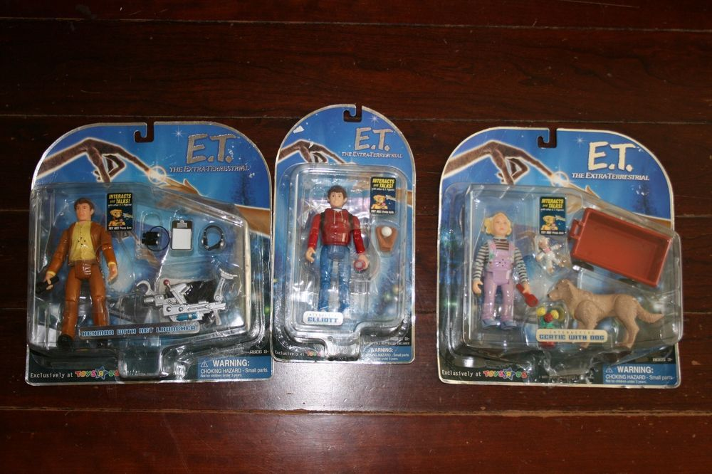 Lot of 3 E.T. 2001 Interactive Figures: Elliott, Gertie and Keyman (UNOPENED)