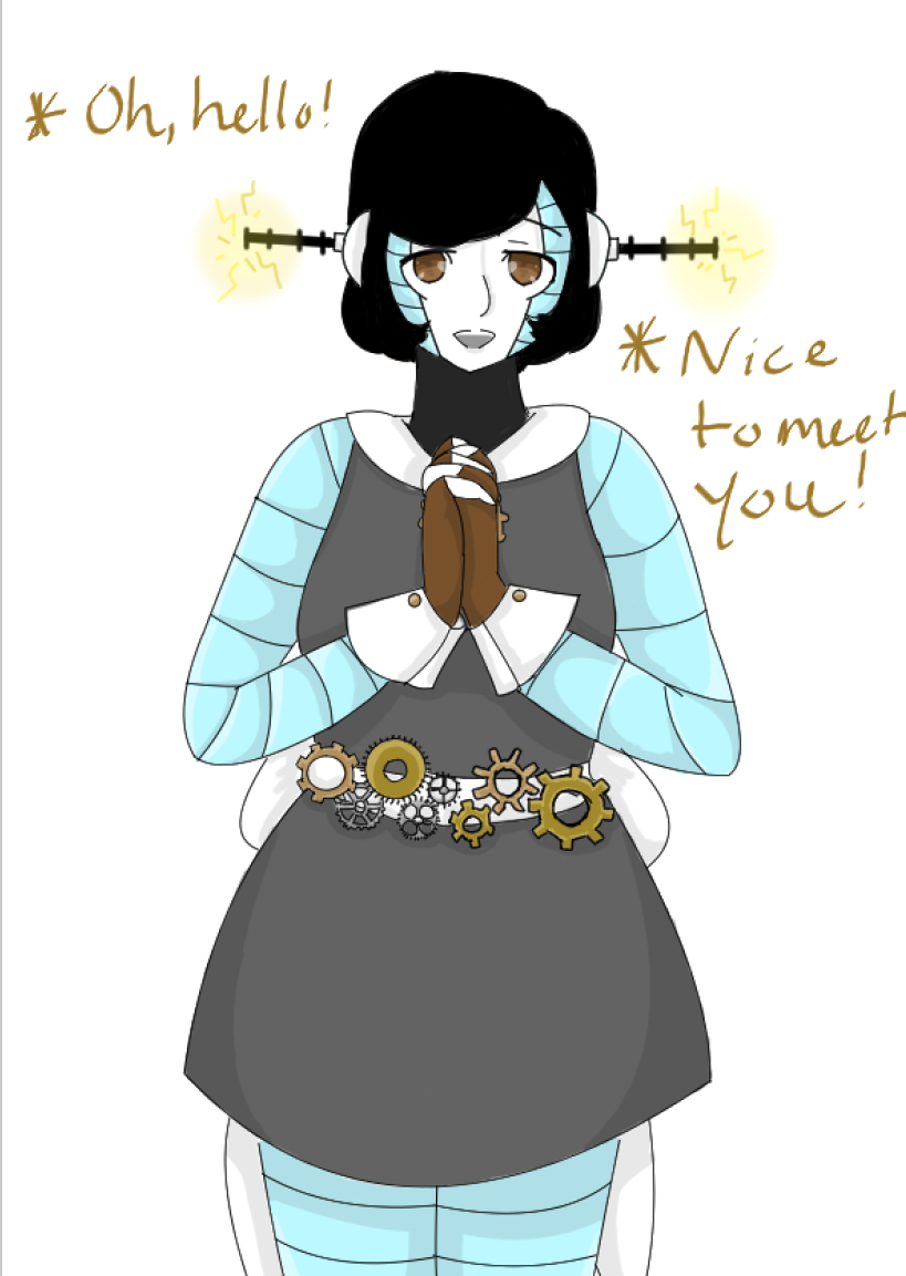 Hello  I am Aeon  I am a robot from Hotland! (Yes, she is my