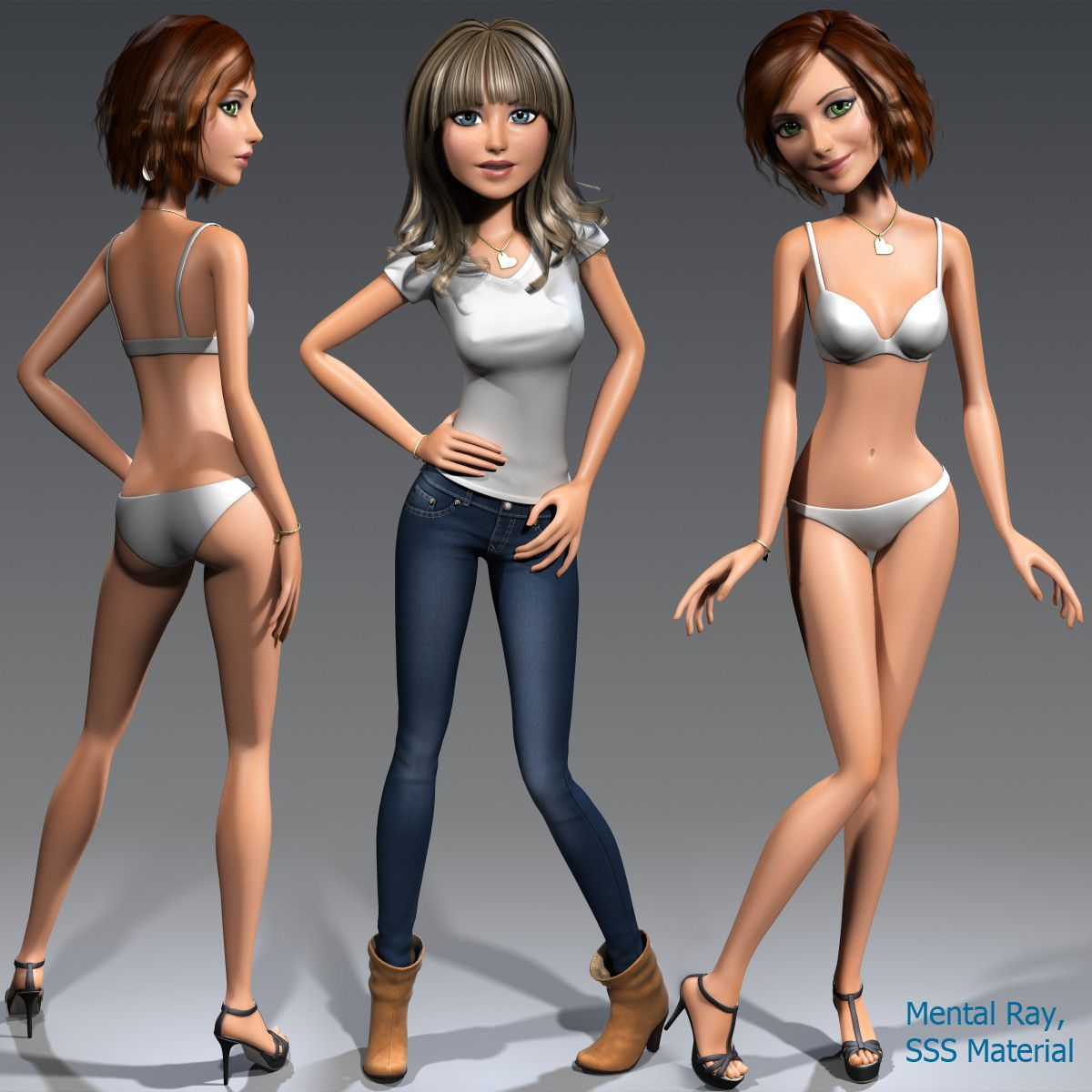 Young girl 3d comic adult