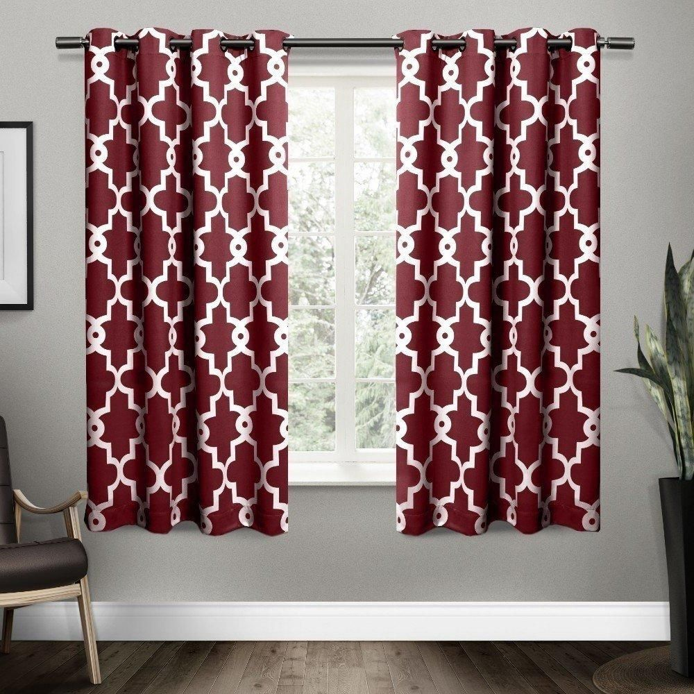 amazon l home top w moroccan stainless panels curtain com print fashion best grommet set nickel x orange dp of curtains velvet steel