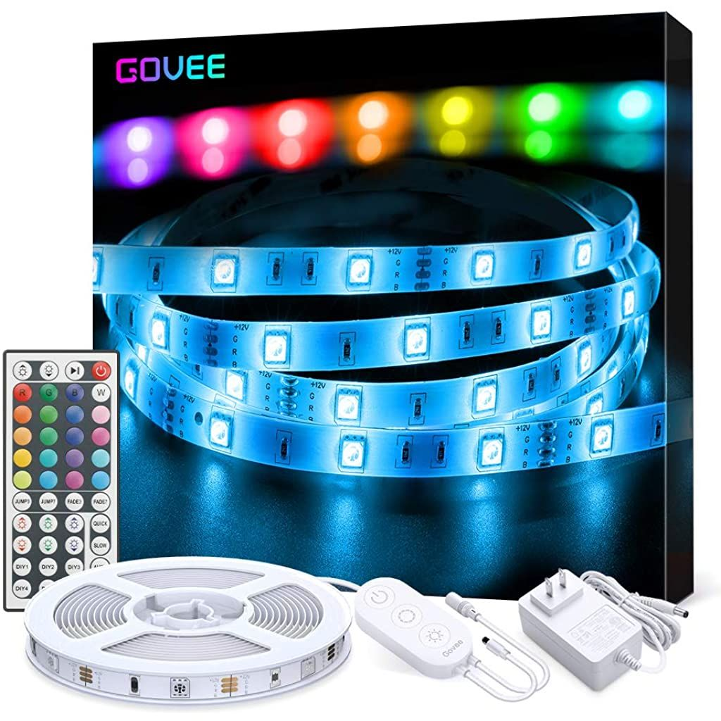 Led Strip Lights Govee 16 4ft Rgb Color Changing Light Strip Kit With Remote And Control Box For Roombedroom Tv Ceiling Cupboard Decoration Bright 5050 Yastiklar
