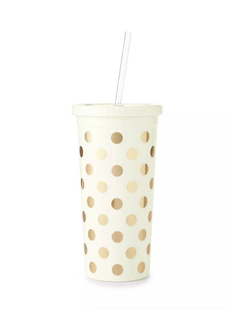 Kate spade insulated tumbler tumbler with straw