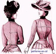 Edwardian Schorr DRESSMAKER Costume SEWING PATTERN cd
