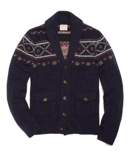 for him - Wool Fair Isle Shawl Collar Cardigan   G I F T I N G ...