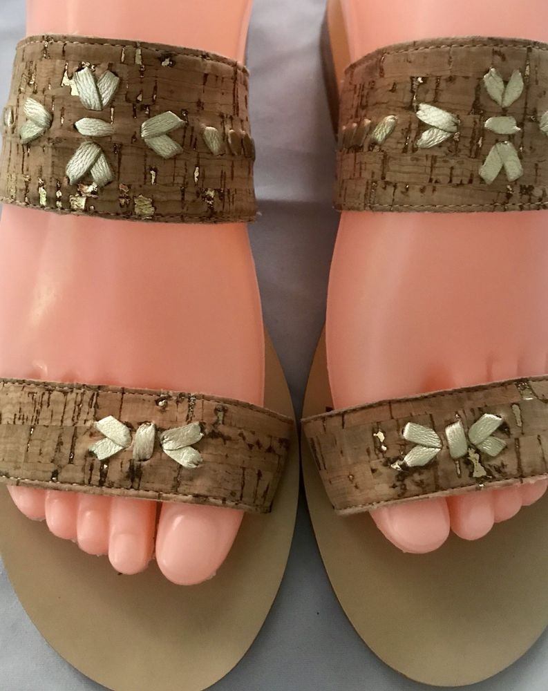 a41edc843596 Jack Rogers Sandals Slides Women s Brown Beige Size 6.5 NWT  fashion   clothing  shoes  accessories  womensshoes  sandals  ad (ebay link)