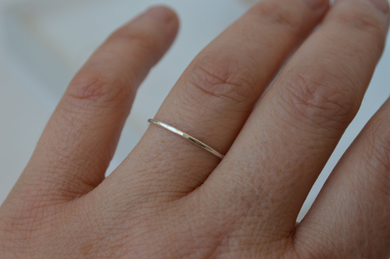 Minimalist Ring Sterling Silver Ring Dainty Silver Ring Skinny Silver Stacking Ring