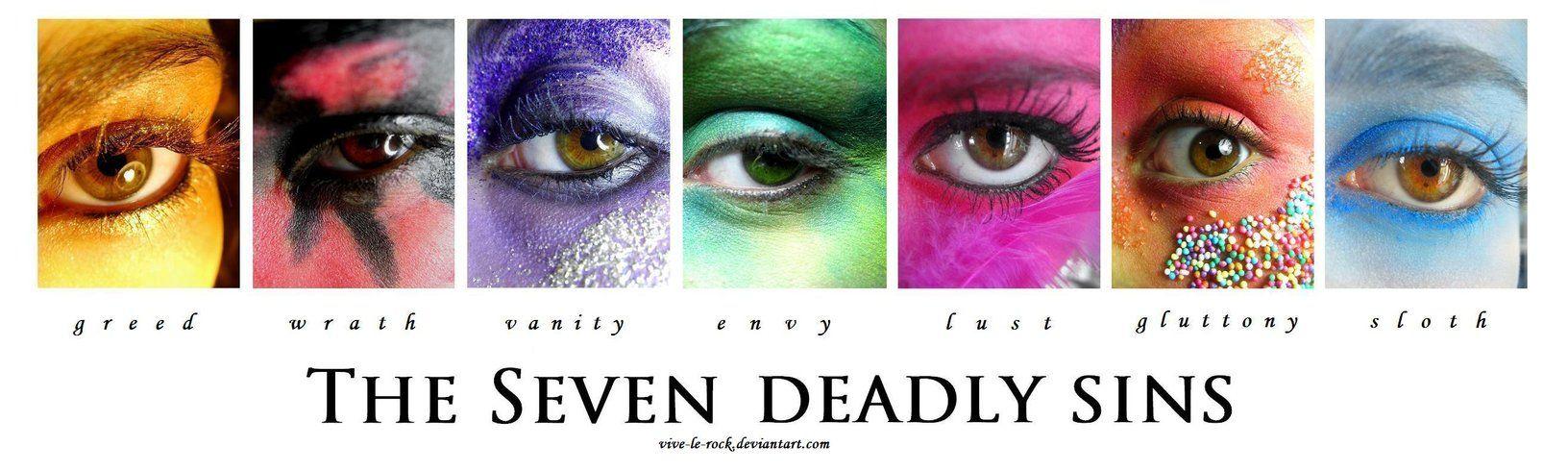 7 deadly sins - photography ideas?