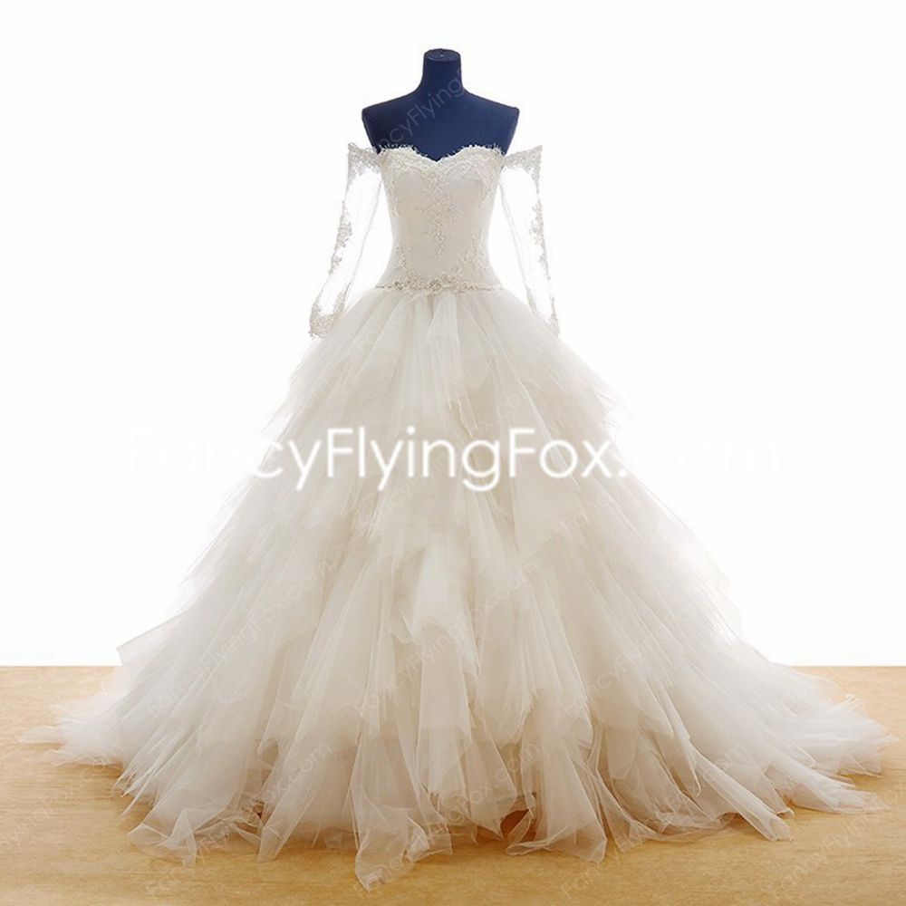 fancyflyingfox.com Offers High Quality Breathtaking Off The Shoulder Ball Gown Wedding Dress With Layers  ,Priced At Only US$365.00 (Free Shipping)