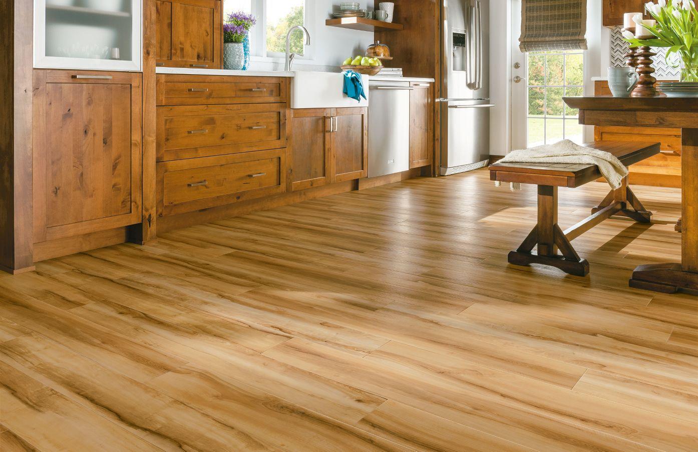 Armstrong Luxury Vinyl Plank Flooring Lvp Natural Wood Look Kitchen Dining Ideas