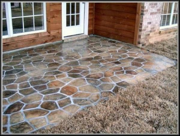 Painting Cement Google Search Stone Patio Designs Paint