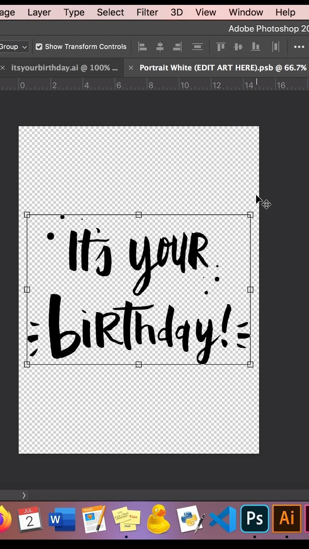 Black and White Its Your Birthday! Card Minimal Birthday ...