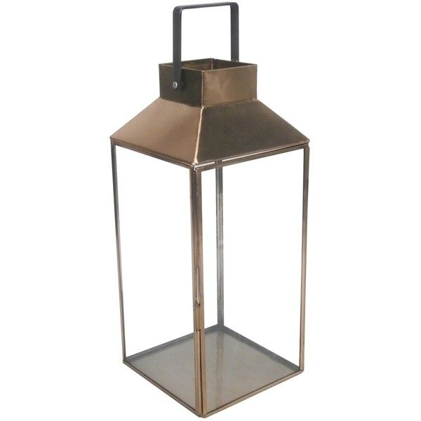 Outdoor Lantern Stainless Steel Amp Glass With Square Handle