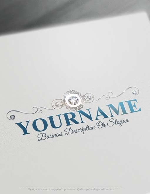 Create A Logo Free Maker Event Planner Ready Made Design Decorated With Diamonds Image