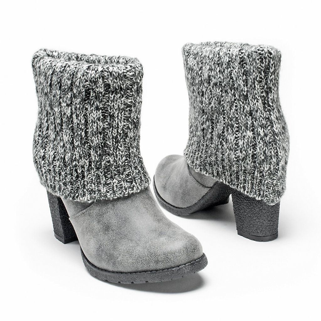 b8459328 MUK LUKS Chris Women's Sweater Cuff Ankle Boots | Zapatos | Zapatos ...