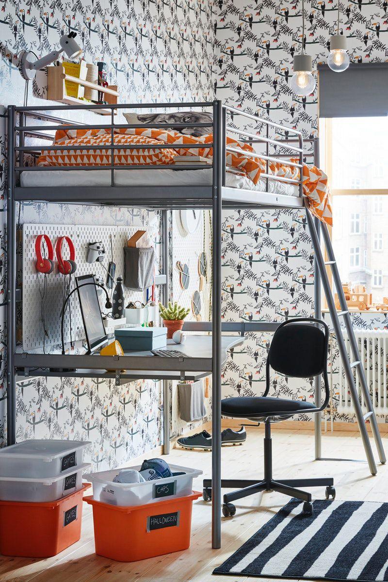 Svarta Hochbettgestell Silberfarben Ikea Deutschland In 2020