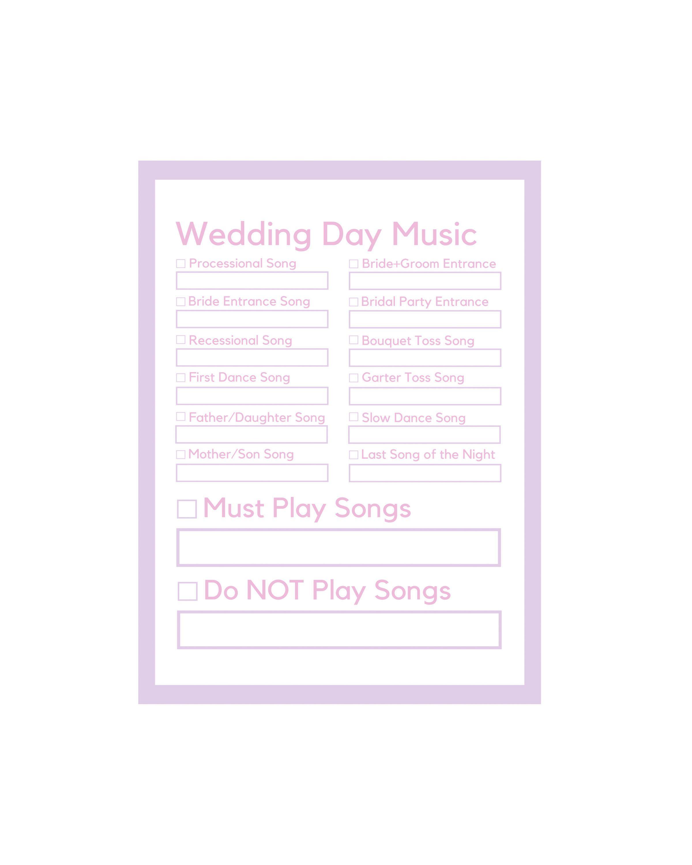 Dj Request Form Wedding Song List Wedding Music List Song Request