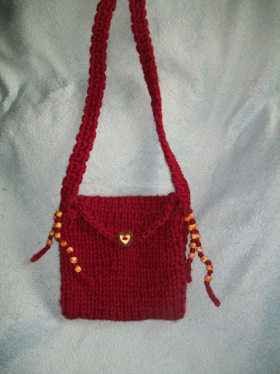 kleine gestrickte Kindertasche mit Perlen | Taschen | Pinterest ...