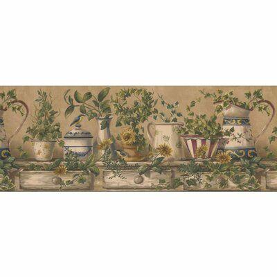 """Fleur De Lis Living Blume Kitchen 15' L x 9"""" W Wallpaper"""