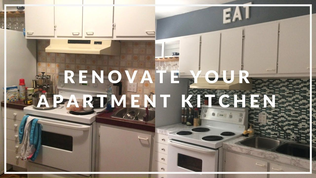 Apartment Kitchen Makeover On A Budget Diy Small Apartment Kitchen Budget Kitchen Makeover Kitchen Renovation