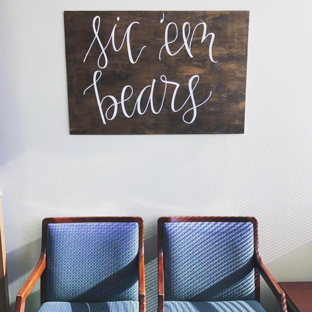 """Sic 'em Bears"" Baylor wood wall art"