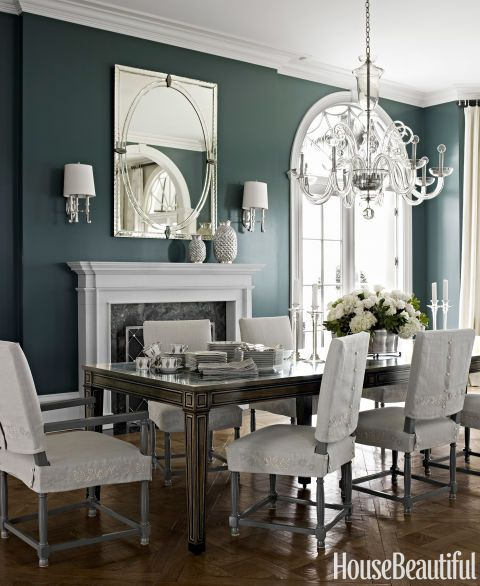 Proof That Bold Colored Walls Really Work Dining Rooms Beauteous Dark Grey Dining Room Design Inspiration