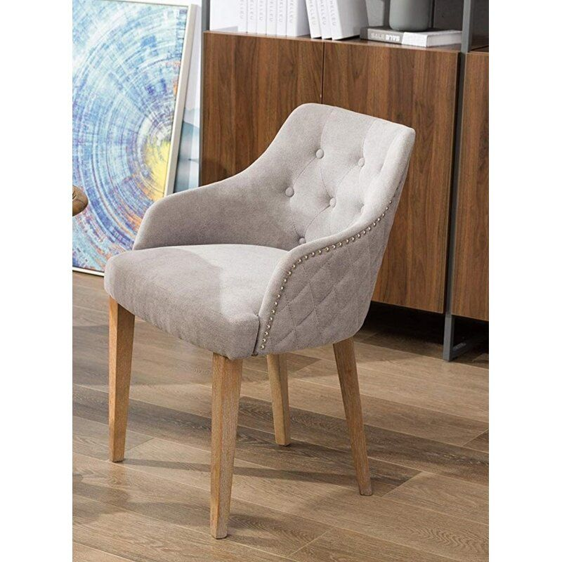 Fabulous Tilley Tufted Nailed Microfiber Armchair For The Home In Evergreenethics Interior Chair Design Evergreenethicsorg