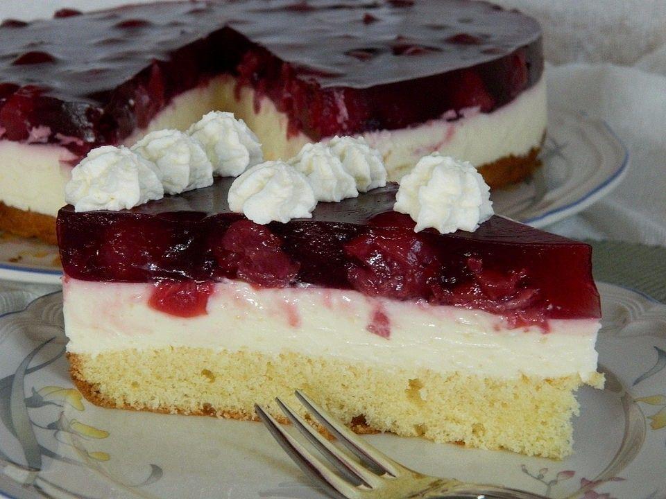 Annelies Kirsch-Schmandkuchen #cakesandcheesecakes