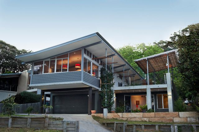 Contemporary Homes Houses On Slopes House Design Photos Roof Design